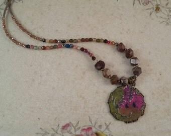 Handmade Metal Patina Pendant