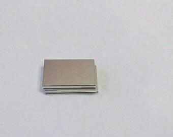 Aluminum Blanks - 5/8 x 1  - 22 g - DIY Metal Blanks - hand stamping blanks - rectangle blanks - pendant blanks