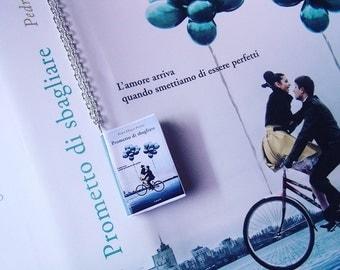 Collana miniatura libro Prometto di sbagliare - Love book necklace