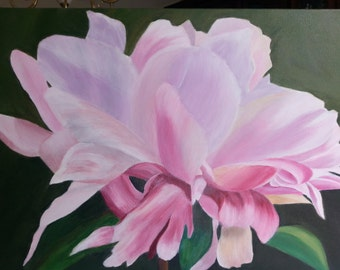 "Original Floral Acrylic Painting ""Elegance in Bloom""  18"" x 24"" Stretched Canvas"