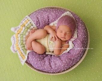 Classic Blanket Pattern, Crochet Blanket Pattern, Photo Prop, Kelda