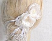 Bridal Hair Piece - Wedding Hair Piece - Bridal Hair Flowers - Wedding Hair Accessories - Bridal Flower Hair Piece