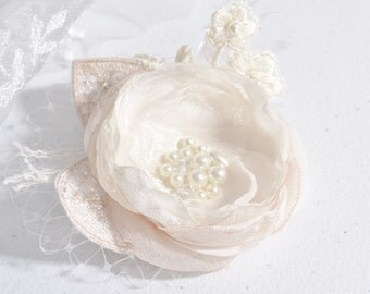 Flower Clip - Bridal Flower Hair Clip - Bridal Hair Flower - Wedding Hair Accessories - Wedding Hair Piece