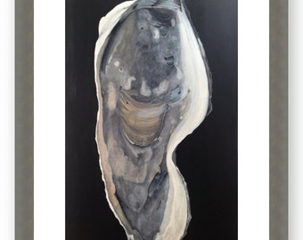 """Oyster Art Matted Print on Enhanced Matte Paper 5"""" x 9"""" and Up"""