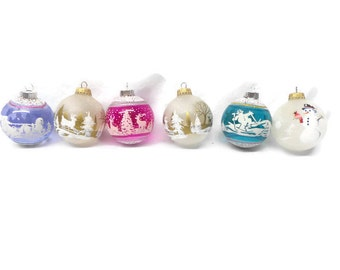 Vintage Christmas Ornaments, Christmas Ornaments, Holiday Ornaments
