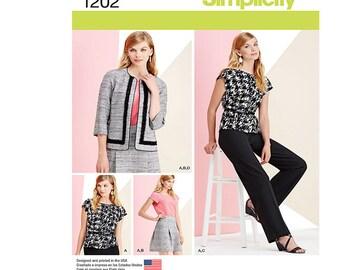 Simplicity 1202 U5, Simplicity Sewing Pattern 1202 U5, Misses' Sportswear Pattern, Sewstylish, FREE SHIPPING, Sizes 16-24