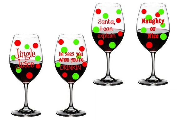 Diy Christmas Wine Glasses Lizardmediaco - How to make vinyl decals for wine glasses