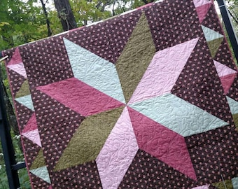 """Star quilt , 58 """"  square,"""