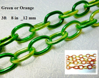 8 in Nikel Free Multicolored Chain_S88778251_Colored Chains_of 8 in_12 mm_pack 100 cm_3ft