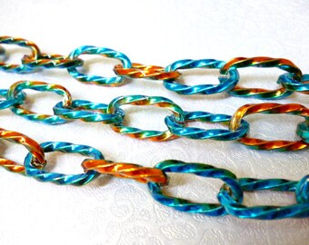 7 in Nikel Free Multicolored Chain_S6565656546544_Colored Chains_of 7 in _10 mm _pack 3 ft