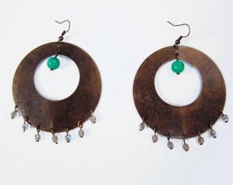 Circle Brass Earrings