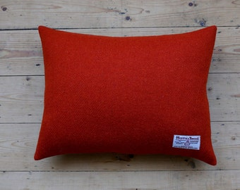 Harris Tweed Luxury Paprika Cushion