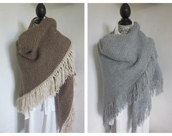 Brown Lace shawl, Triangle Crochet shawl, Crocheted shawl, Crochet Shawlette, Wraps Shawl, Shoulderwarmer, Crochet Wraps, Acrylic Wool,