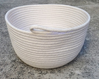 Medium Handmade Cotton Rope Bowl Nautical Basket