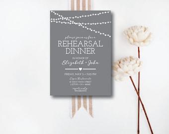 INSTANT DOWNLOAD rehearsal dinner invitation / downloadable invitation / editable invitation / wedding rehearsal dinner / 5x7 invitation