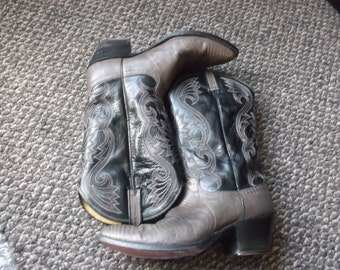 Vintage Lizard Skin Cowboy Boots with Cleats Dan Post