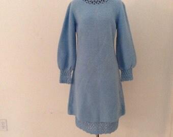 Vintage St. John Knits  Rare Mini Dress 60s with Slip