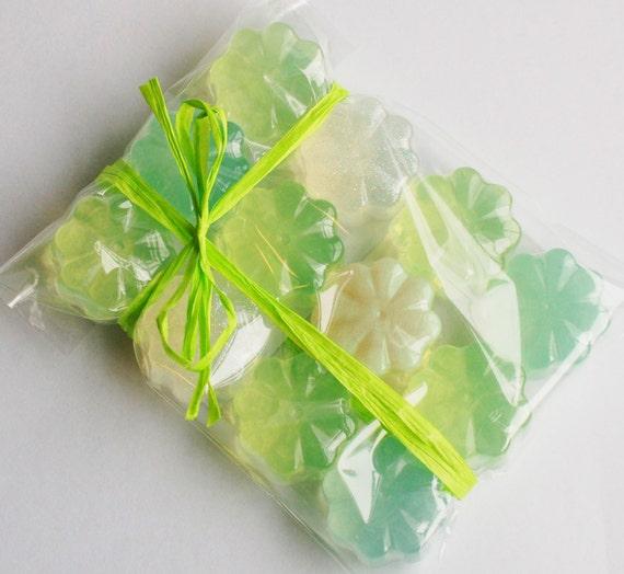 Mini Soap Variety Pack, Green Soap Set, Tiny Flower Soaps, Hostess ...