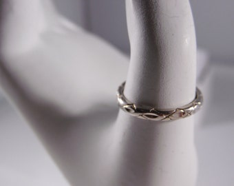Sterling Silver Size -6-South Western Design Ring.