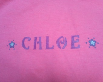 Girls Custom Name T-shirt (Glow-in-the-dark)