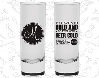 To Have and To Hold Shooters, Shooters , Monogram Shooters, Monogrammed Shooters, Tall Shot Glasses (50)