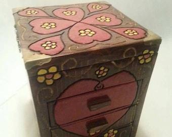 Beautiful hand crafted jewelry box