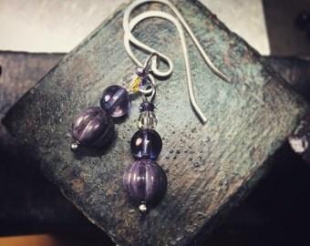 Delicate Lavendar Earrings