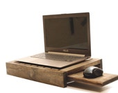 Wood Laptop Stand Laptop Holder Lap Tray Lap Desk Laptop Desk Serving Tray  Table Accent Mens Gift Present Christmas Gift Ideas for Men