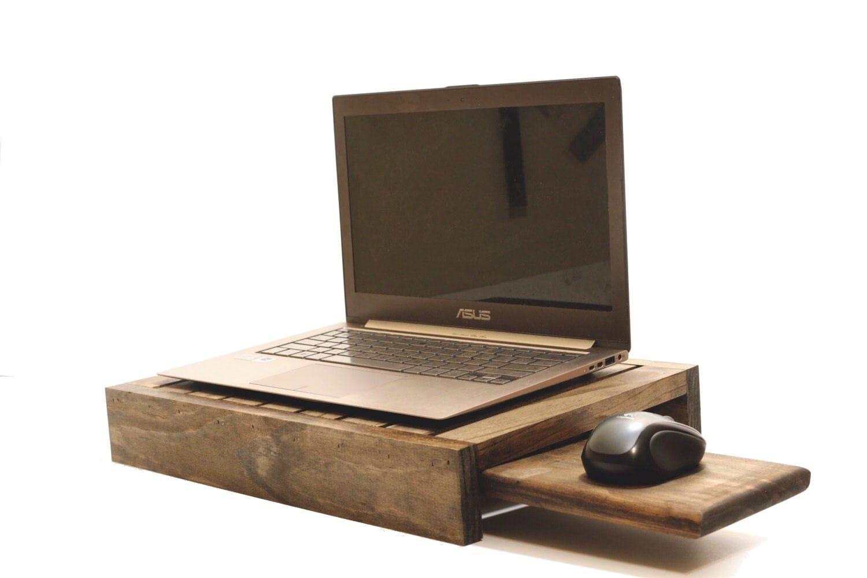 Wood Laptop Stand Laptop Holder Lap Tray Lap Desk by ...