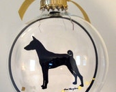 Basenji Ornament, Gifts for Dog Lovers
