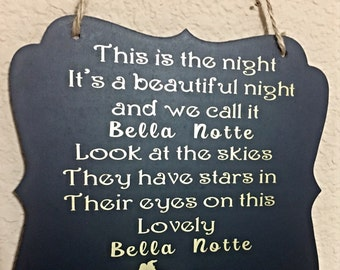 Bella Notte- chalkboard sign