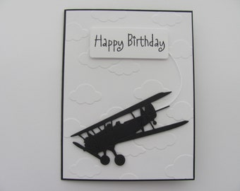 Birthday Day Card, Happy Birthday Card, Plane card,Birthday Plane Cards, Masculine Cards, Happy Birthday, Gifts For Him, Planes