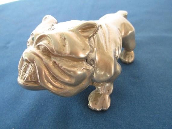 Solid Brass Bulldog Figurine Vintage Home Decor Figurine