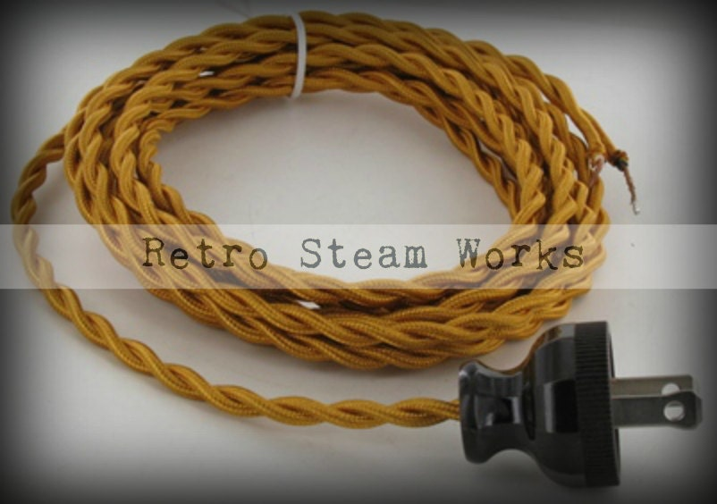 12 Ft Twisted 18 Gauge Fabric Wire Lamp Cord By