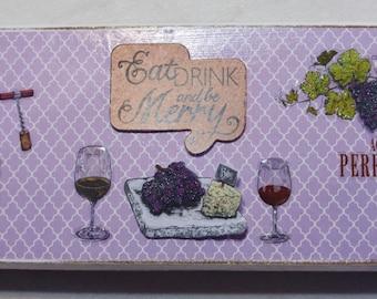 Wine plaque