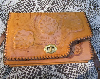 Tooled Reversible Leather Purse