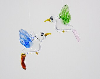 Glass Hummingbird Ornaments/Figurines-Xmas-Holiday Ornament-Sun-Catcher-Home Decor-Wedding Favors