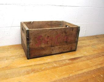 Vintage Wood Crate, Suncrest Wooden Crate, Wooden Storage Crate, Pop Crate, Bottle Crate, Photo Prop