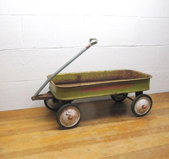 Vintage Green Gto Wagon Yard Art Yellow Green