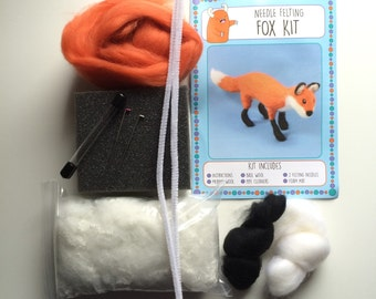 Fox kit make your own needle felted fox