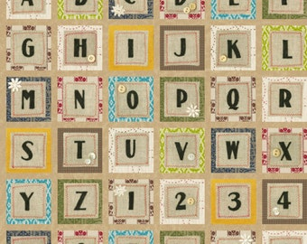 Blend Fabrics - Alphabet Ivory - Tilly Collection - 104.102.02.1