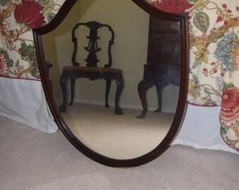 Antique Shield Shaped Mirror - SM
