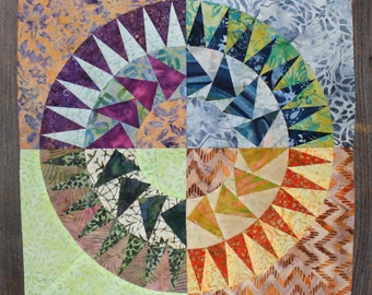 New York Beauty Quilt Block Paper Piecing Pattern - Block 5