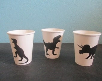 Dinosaur Party cups,(16)Dinosaur Decor,Party containers,Dinosaur birthday party,Dinosaur theme party,Dinosaur baby shower,Kids Dino Party