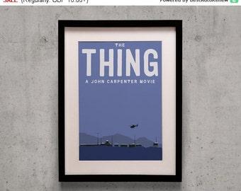 20% Weekend Sale! The Thing - John Carpenter Minimal Movie Poster Print
