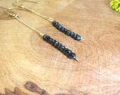 Gemstone Earrings // Spinel Earrings // Dangle Earrings // 14k Gold Filled Spinel Earrings