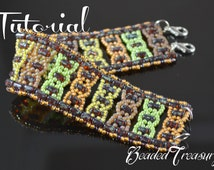 "Beading pattern, bead pattern, rulla pattern, seed bead pattern, beaded bracelet pattern with rulla. ""Helix"" / TUTORIAL ONLY"
