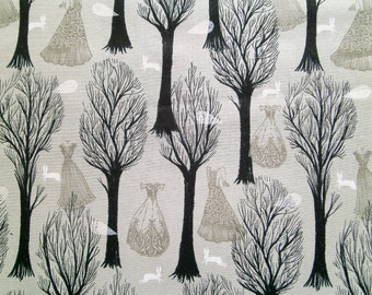 """0,5 m Printed cotton fabric """"Spell Bound"""" Forest 115 cm br.  Screen print"""