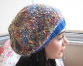 Hot Wool Mosaic Slouchy Hat....