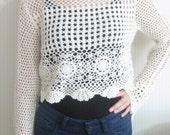 Summer Crochet Crop Top